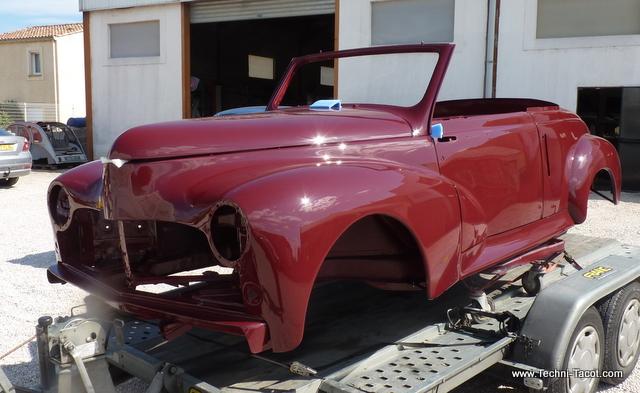 restauration peugeot 203 cabriolet