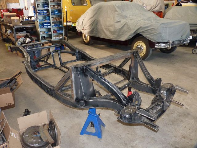 Restauration chassis MG MGA 56