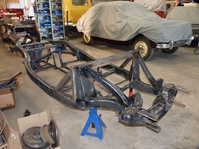 Restauration chassis MG MGA 56