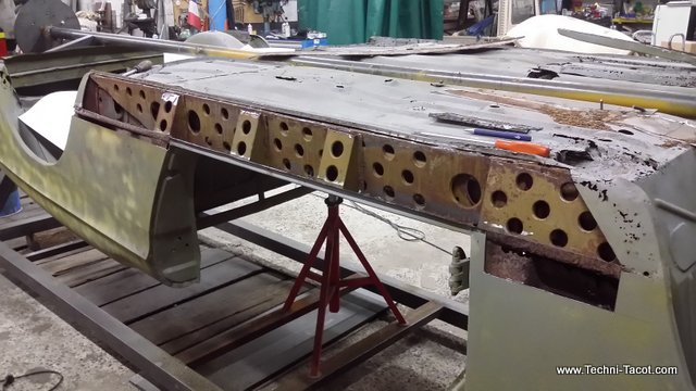 reconstruction plancher longeron peugeot 404 cabriolet