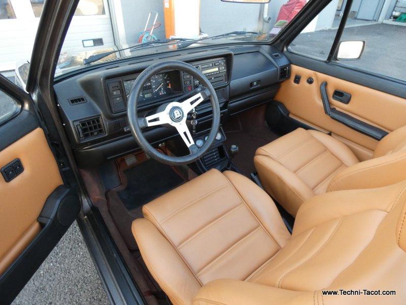 sellerie cuir golf cabriolet VW