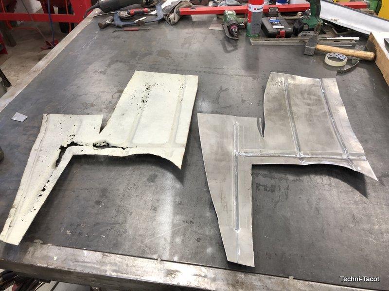 coffre plancher construction tolerie carrosserie ford vedette cabriolet