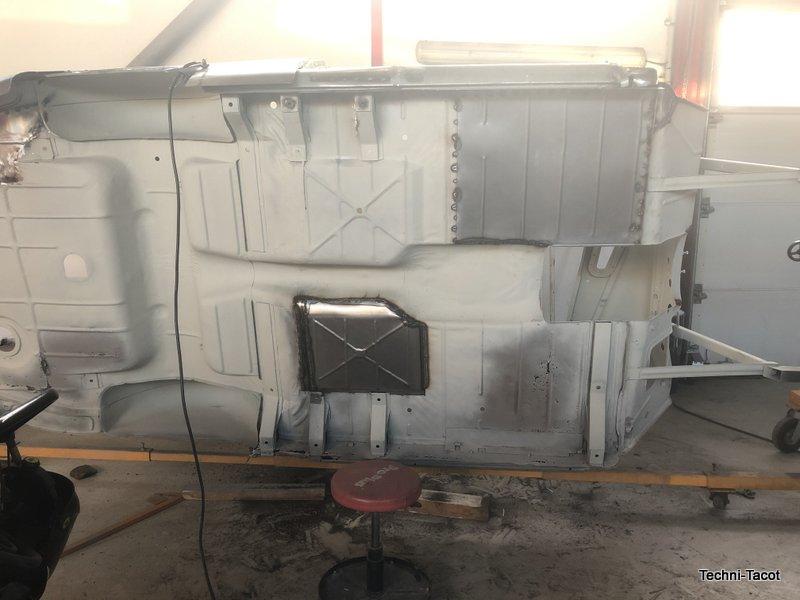 plancher construction tolerie carrosserie ford vedette cabriolet