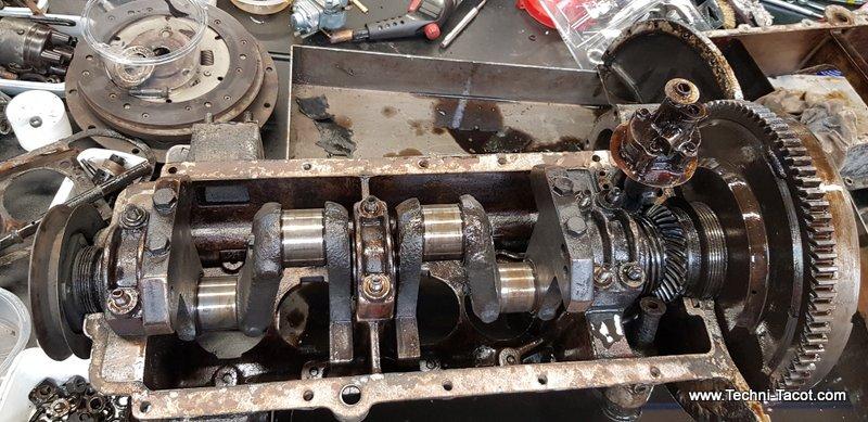 démontage moteur salmson s4 restauration distribution renvoi d'angle