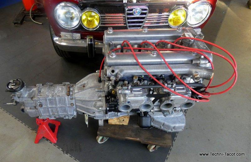 moteur refait restauration alfa romeo giulia 1600
