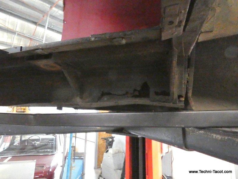 Plancher restauration jaguar xk 120