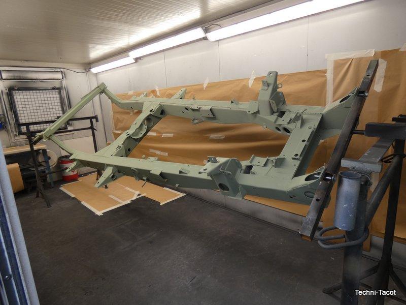remise en état châssis jaguar XK 120