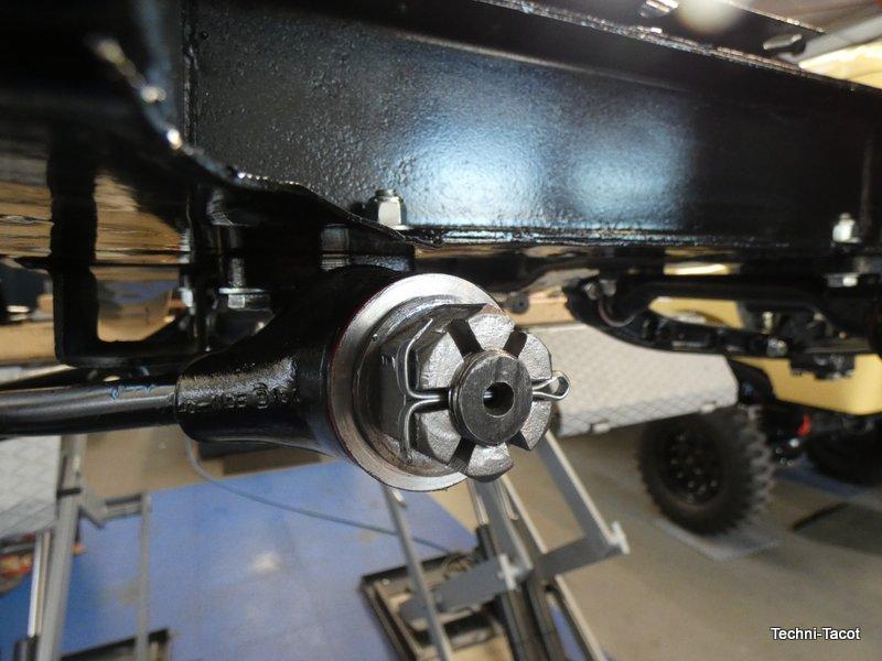 train avant rotule direction châssis jaguar XK 120